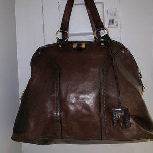 Yves Saint Laurent YSL Muse Oversized Brown Bag